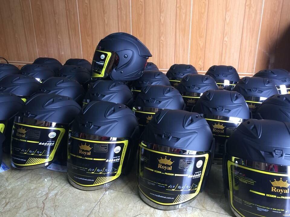 Mũ Bảo Hiểm 3/4 Đầu Asia MT-115 - Đen mờ
