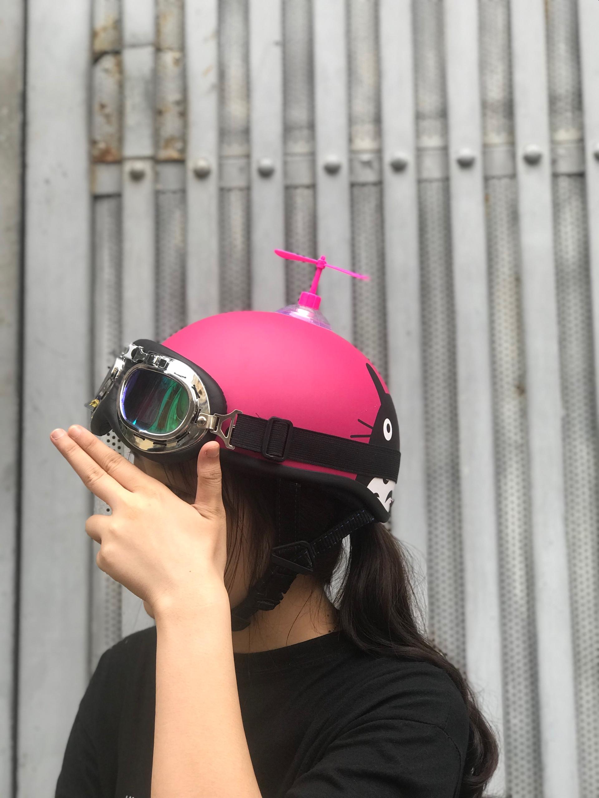 (HOT HIT) mũ bảo hiểm 1/2 CONY THỎ HỒNG+KÍNH PHI CÔNG+CHONG CHÓNG