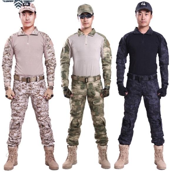 thuê bộ đồ lính dằn di cơ bản (Mũ lưỡi trai – Khăn trùm mặt- Bộ quần áo trong- Áo khoác)