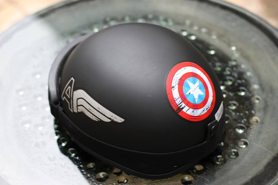 Mũ Bảo Hiểm 1/2 Bopa Tem Phượt - Captain American