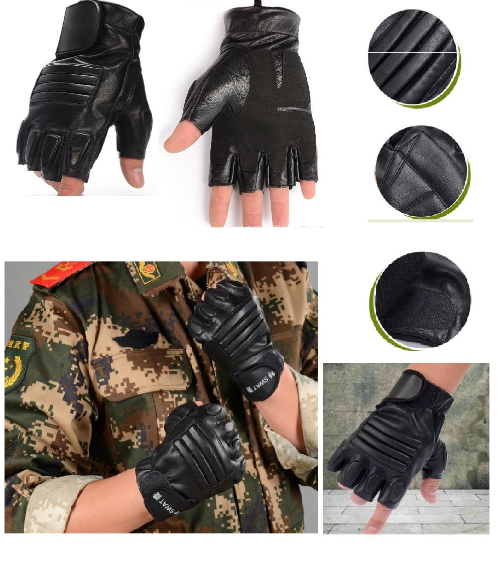 Găng tay da cao cấp mẫu 1 dùng cho phượt thủ thời trang