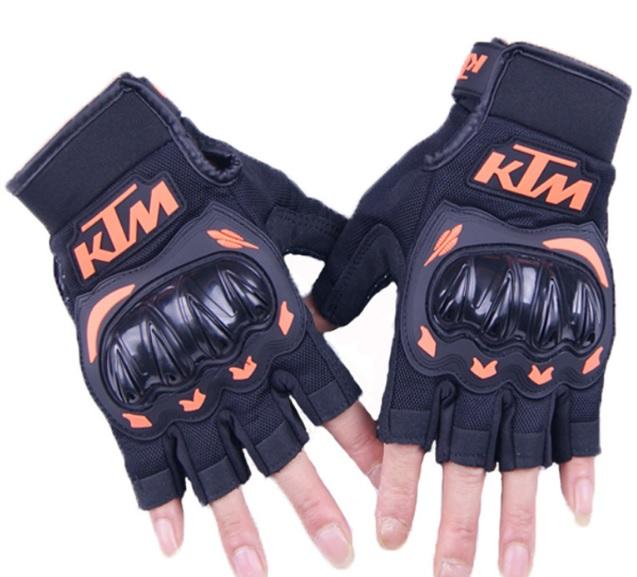 Găng tay phượt gù nhựa cụt KTM hàng chính hãng