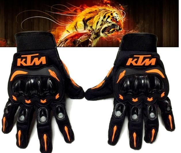 Găng tay phượt gù nhựa dài KTM Full ngón hàng chính hãng