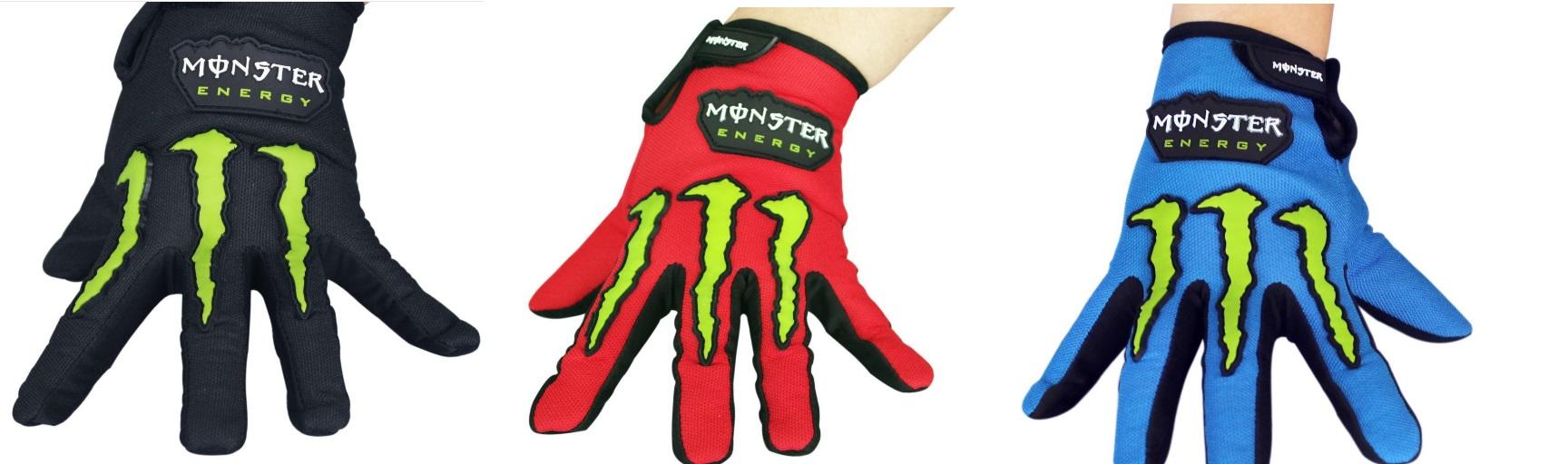 Găng vải Monster energy dài ngón (Đôi)
