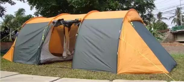 Lều cắm trại loại lớn cho 16 người 2 lớp chống thấm tốt chống côn trùng