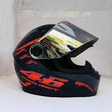 Mũ bảo hiểm fullface AGU họa tiết tem 46 cam (hàng chính hãng)