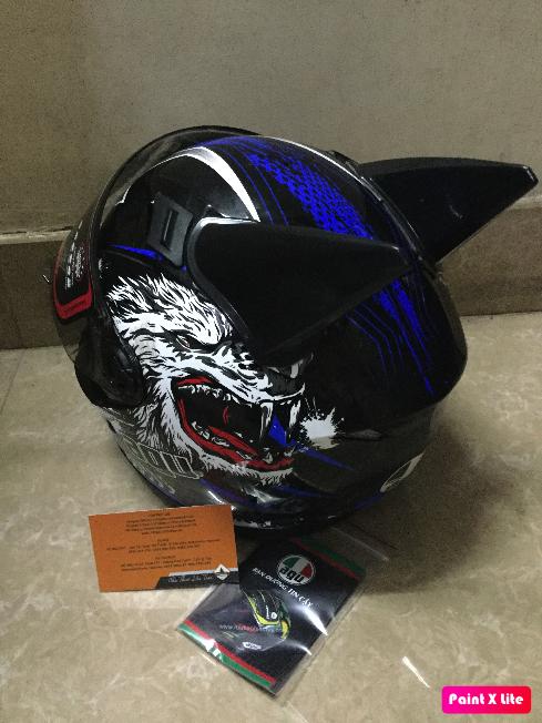 ( miễn phí ship ) mũ nón bảo hiểm AGU tem chó sói xanh nước biển ( hàng chính hãng có tem kiểm định chất lượng )