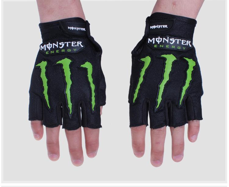 Găng vải Monster energy cụt ngón (Đôi)