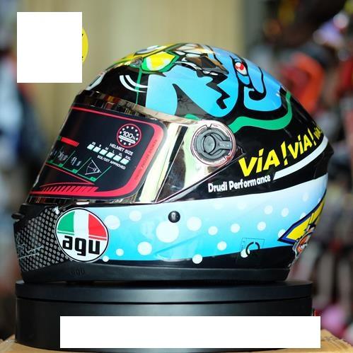 Mũ bảo hiểm fullface AGU họa tiết tem đa sắc 7 màu (hàng chính hãng)