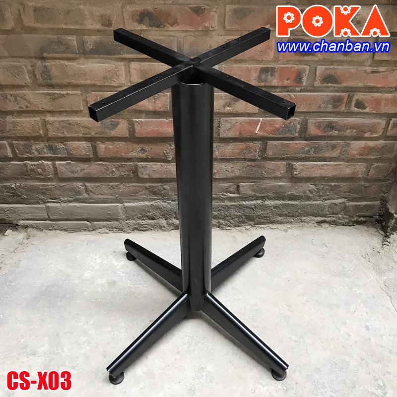 chân bàn cafe sắt giá rẻ CS-X03