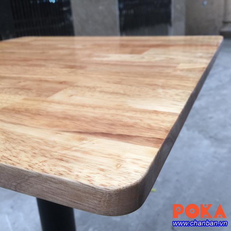Mặt bàn gỗ cao su ghép thanh