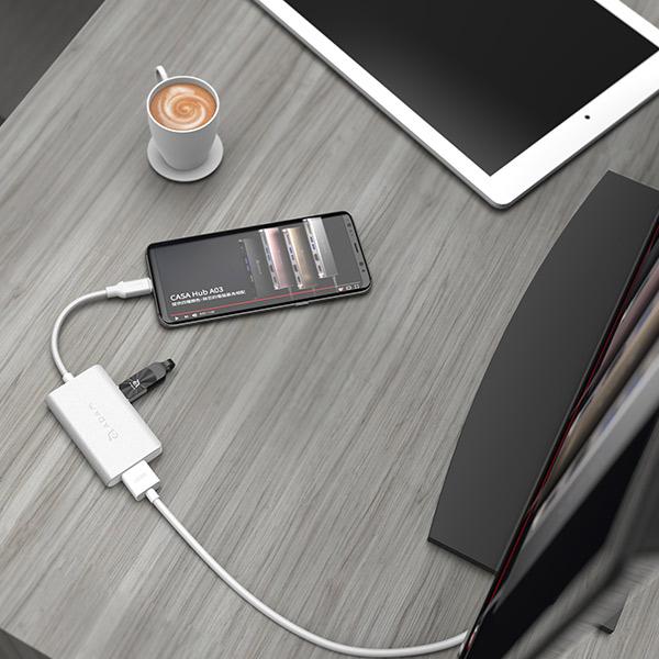 CỔNG CHUYỂN 4IN1 USB-C ADAM ELEMENTS CASA PD 60W