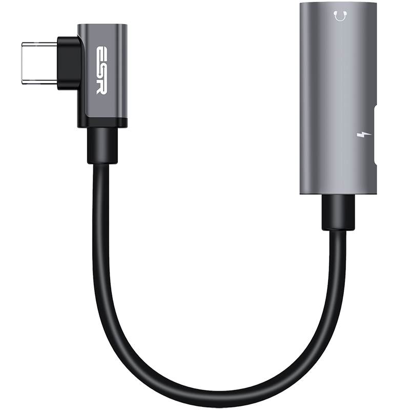 HUB ESR 2 IN 1 TYPE-C TO HEADPHONE + USB-C CURVED