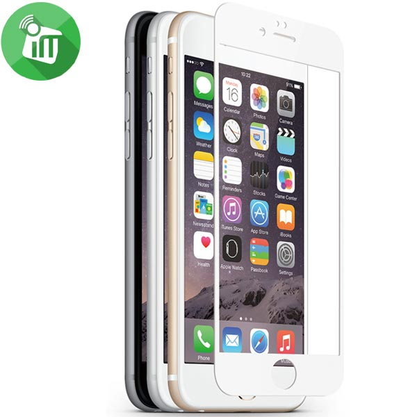 Preserver Classic Glass Screen Protector for iPhone 6 plus/6s plus (White)