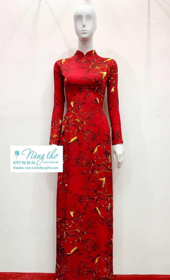 Áo dài màu đỏ đẹp