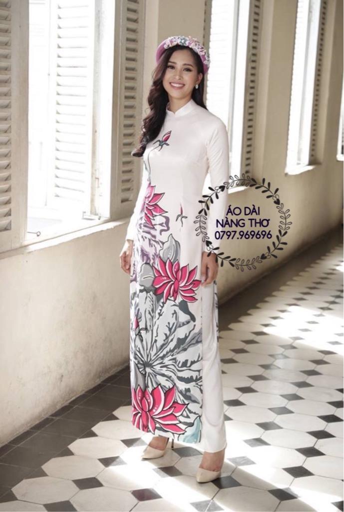 Áo dài màu trắng đẹp