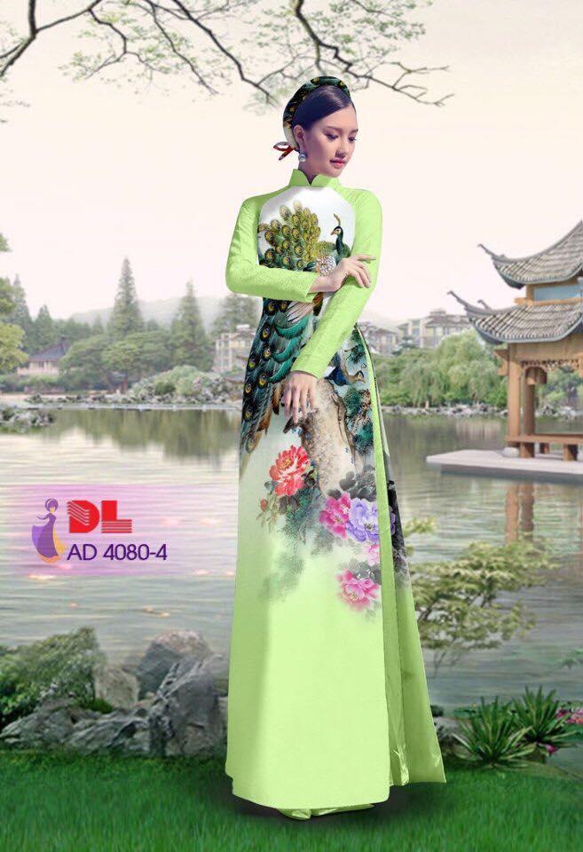 Áo Dài Lụa In Hoa