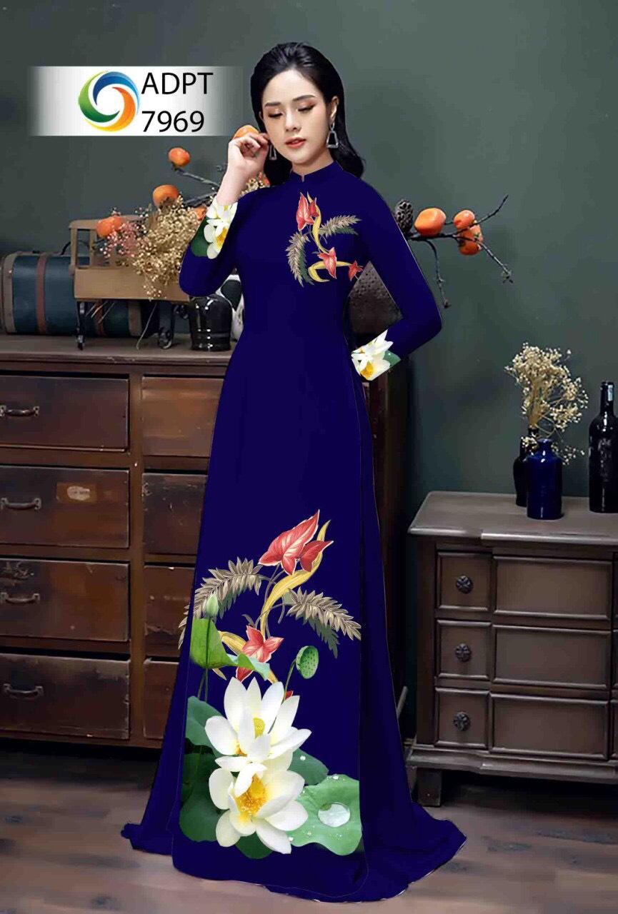 Áo Dài hoa sen