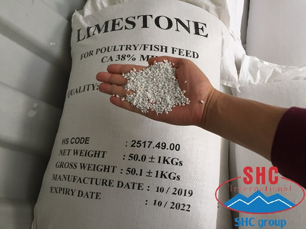 Shipment Limestone 2-3mm Whiteness 92% For Poultry Feed