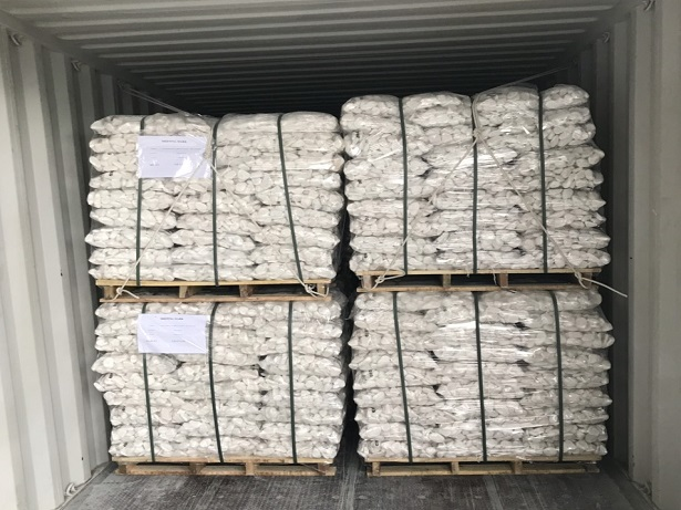 White Pebble Shipments to UAE for Landscaping Projects