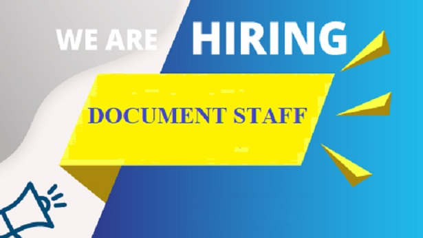 Recruitment For Document Staff in May, 2020