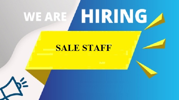 Recruitment For Sale Staff in May, 2020