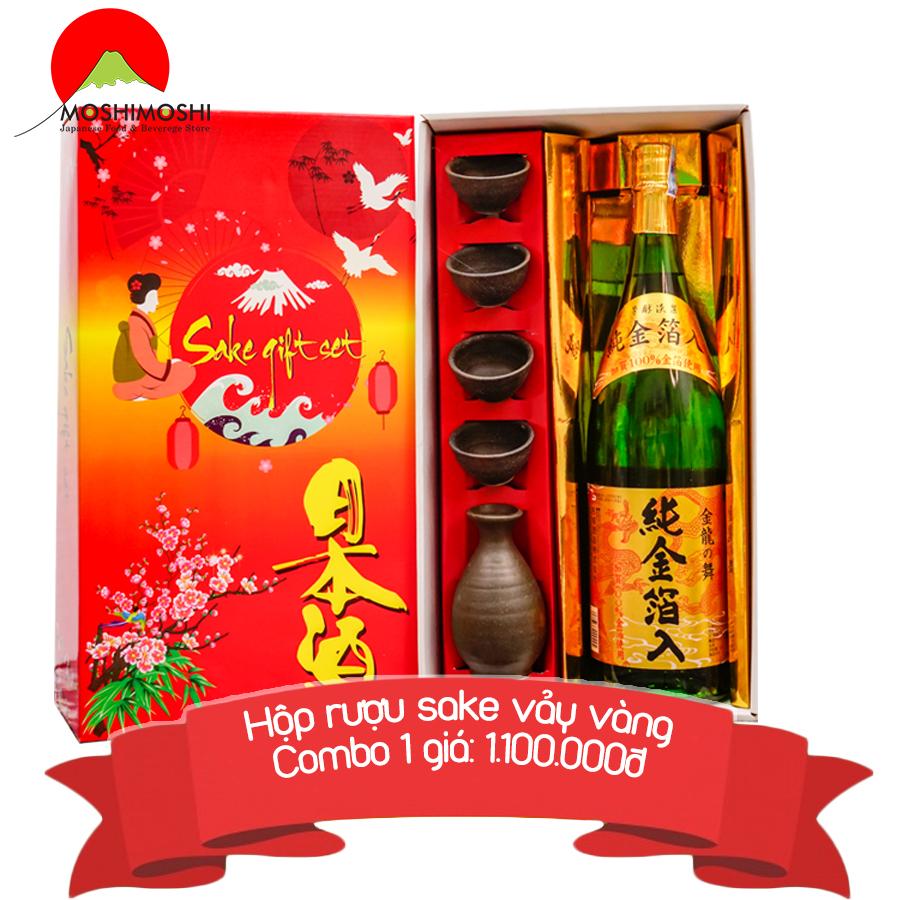Rượu sake vảy vàng Kinryu No Mai Junkinpakuiri 1,8L