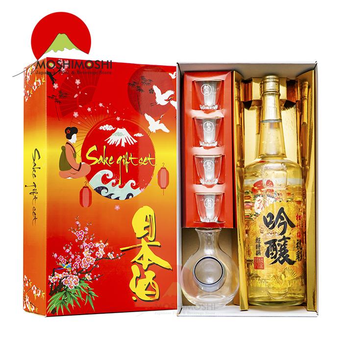 Rượu sake vảy vàng mặt trời đỏ chất lượng tốt
