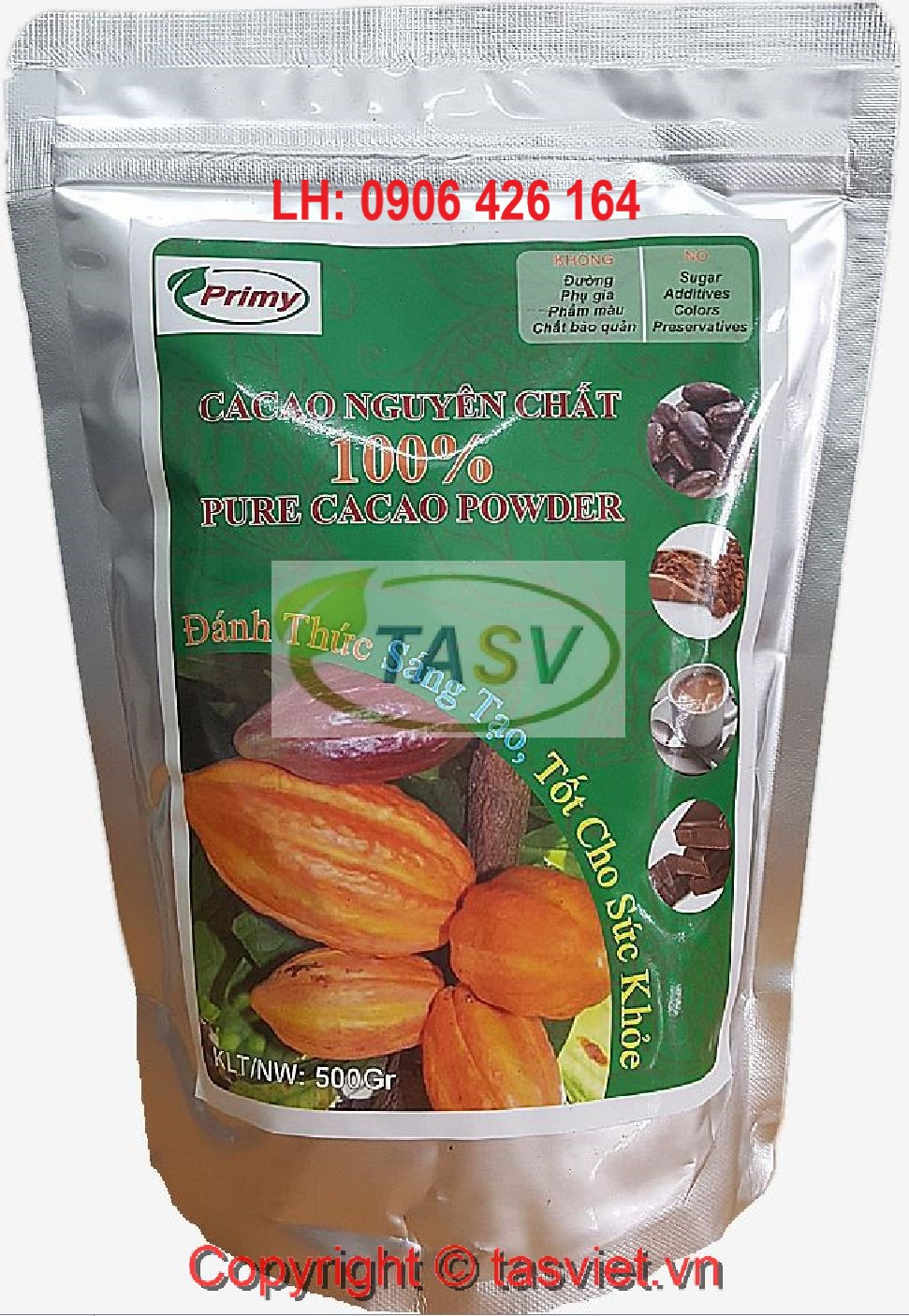BỘT CACAO NGUYÊN CHẤT 100%/PURE CACAO POWDER PRIMY