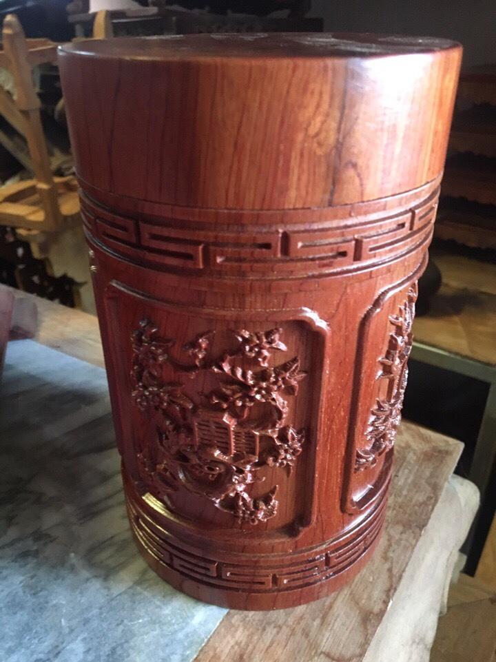 Hộp chè gỗ hương bốn mùa 1