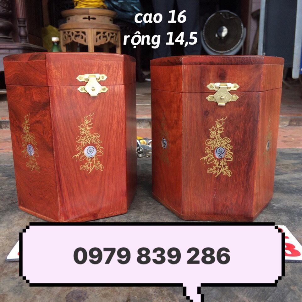 Hộp chè gỗ hương 1