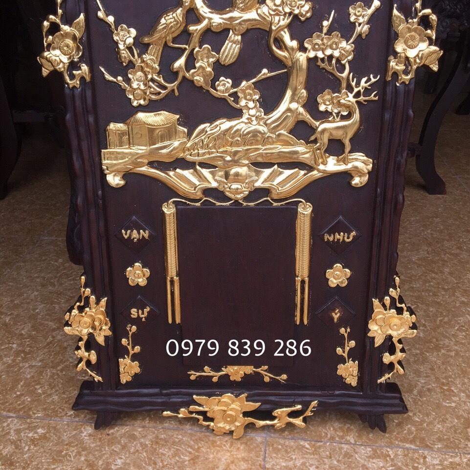 Đốc lịch gỗ sơn thiếp vàng 4