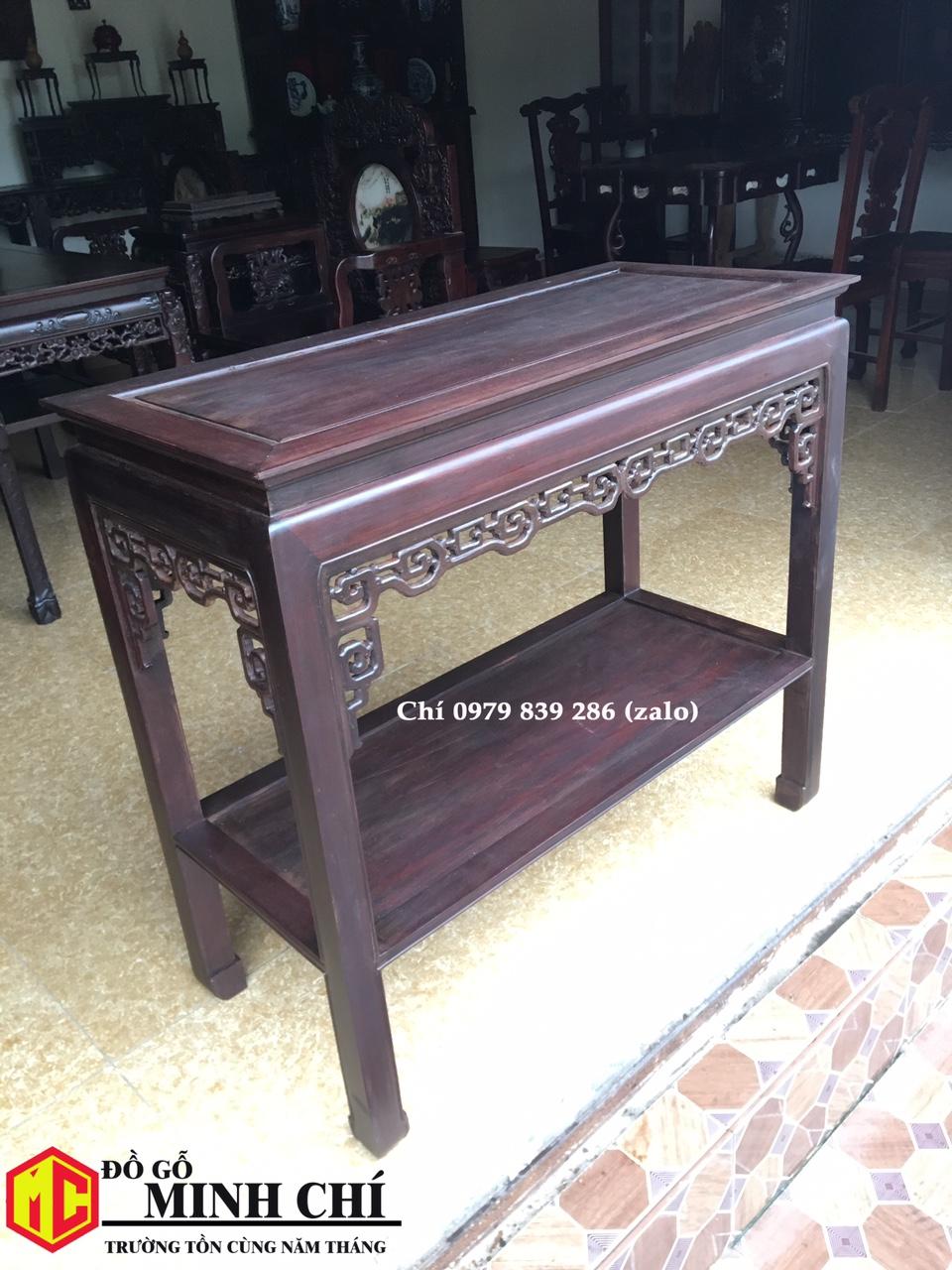 bàn gỗ bầy đồ 8