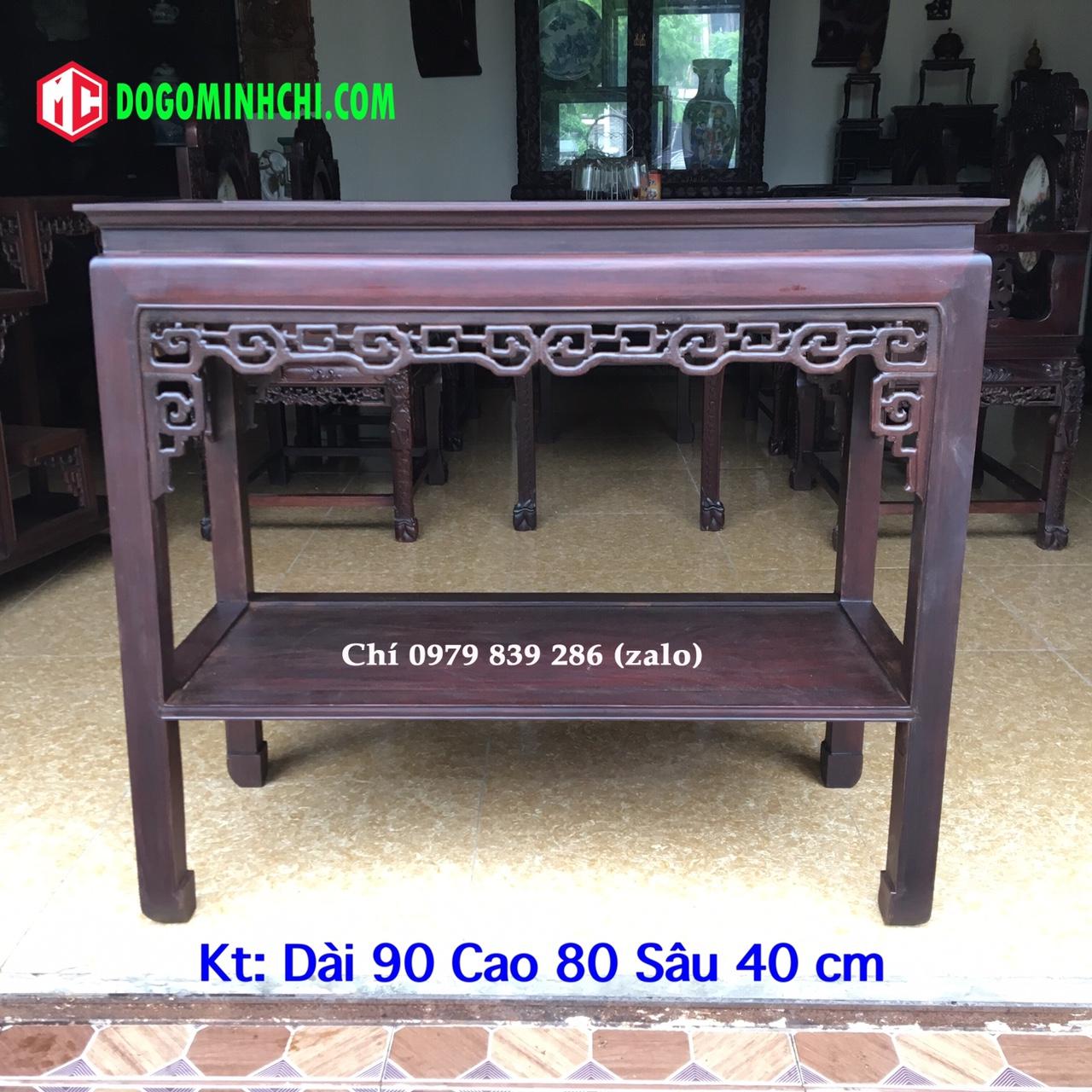 bàn gỗ bầy đồ 9