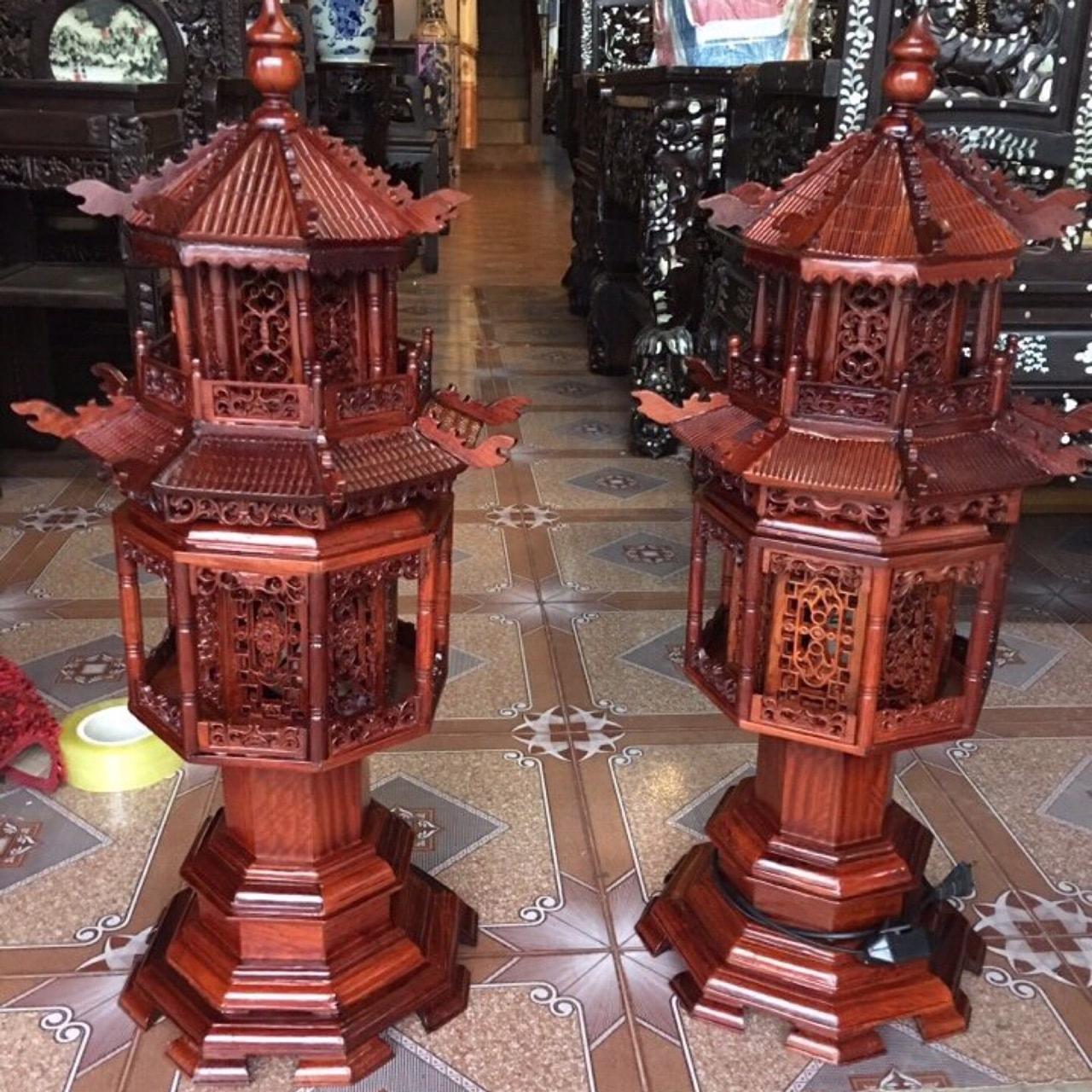 Đèn Gỗ Hương Lục Lăng Cao Cấp
