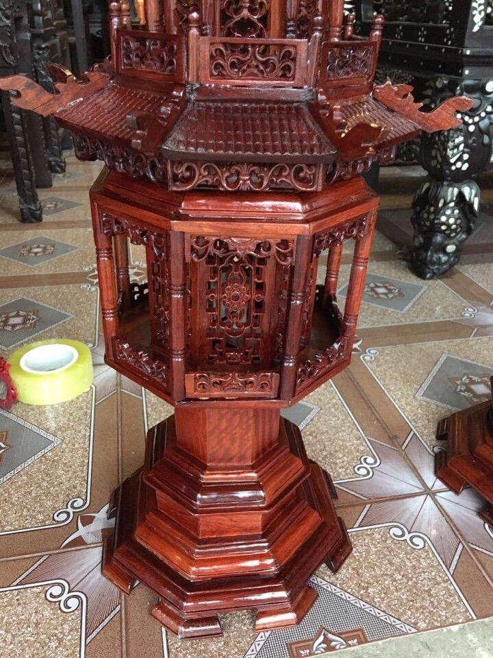 Đèn Gỗ Hương Lục Lăng Cao Cấp  4