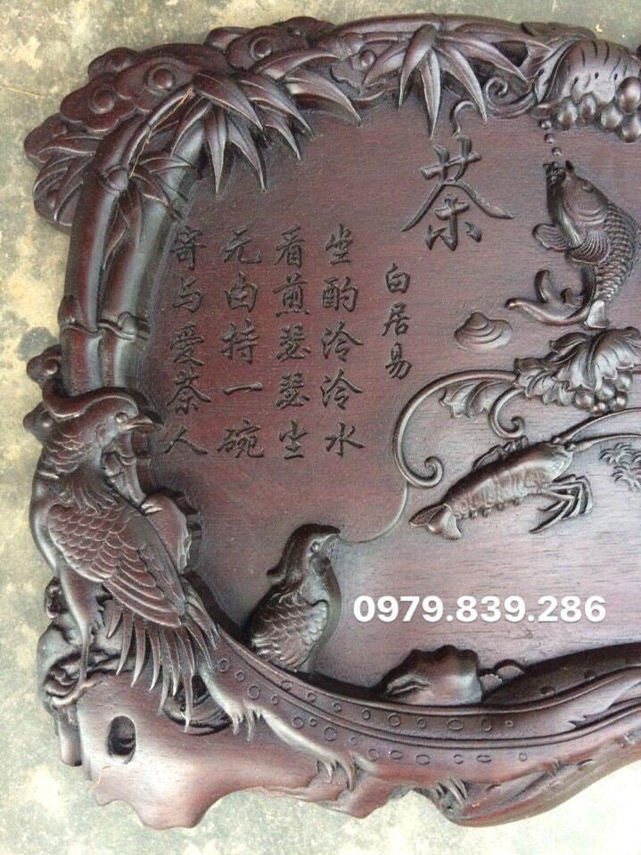 Khay trà chim MS 05