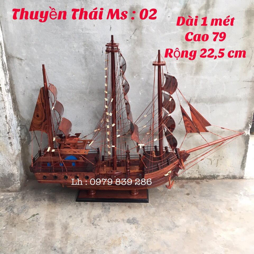 Thuyền Thái Gỗ Cẩm MS 07 1