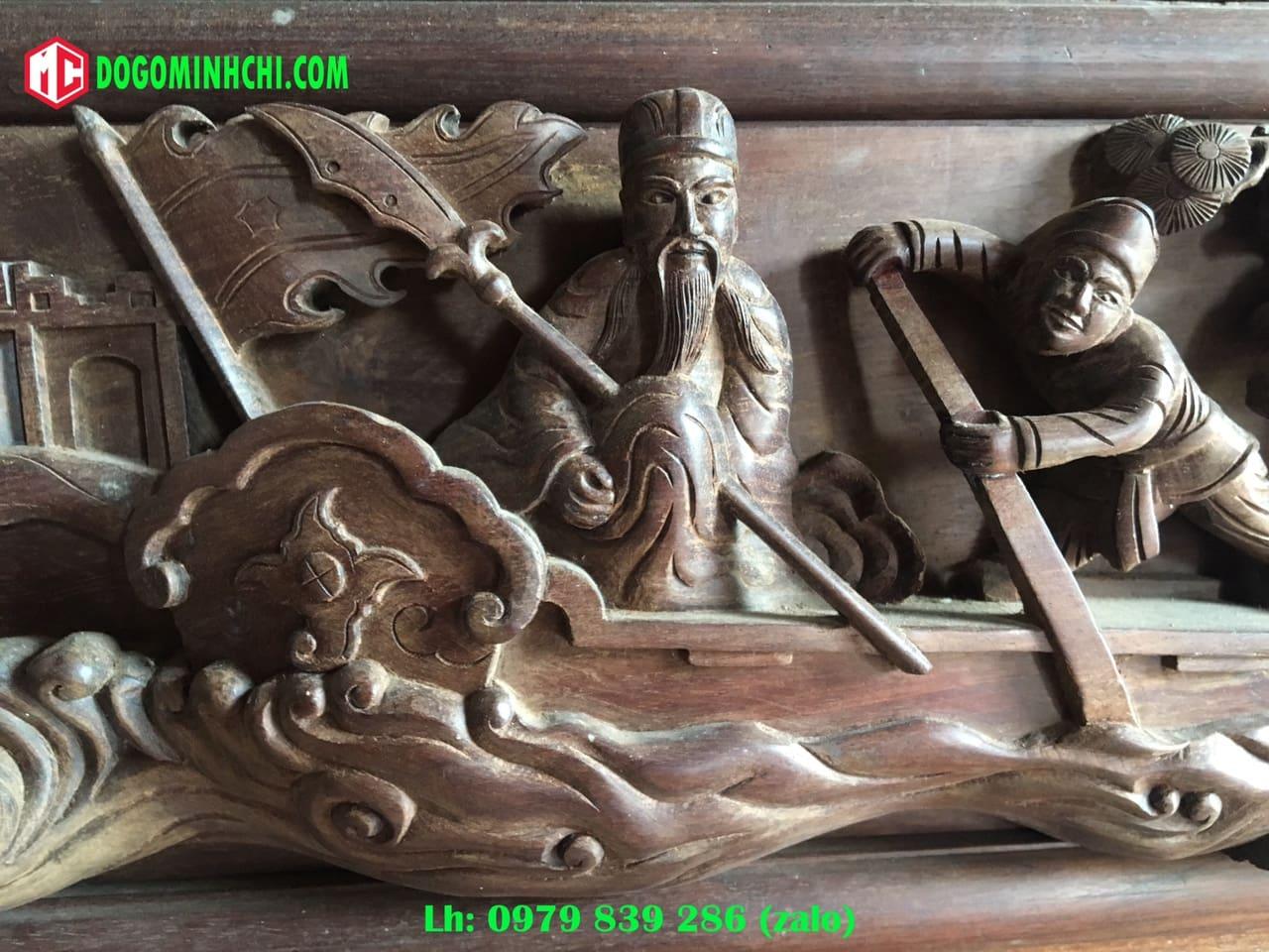 Tủ chùa trạm tích gỗ gụ cũ 4