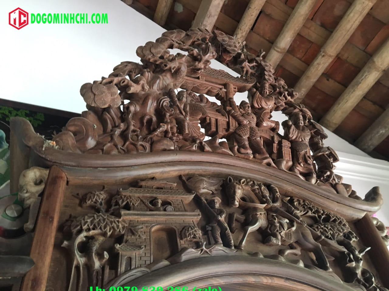 Tủ chùa trạm tích gỗ gụ cũ 6