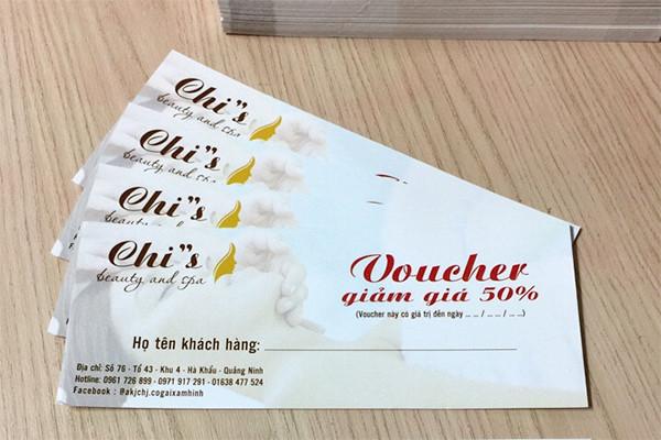 In Voucher, thẻ bảo hành