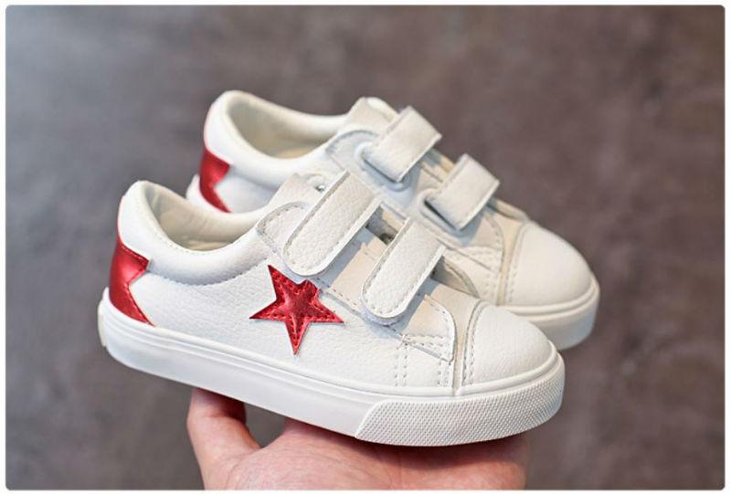 Giày bata trắng da dán thời trang - KP2022