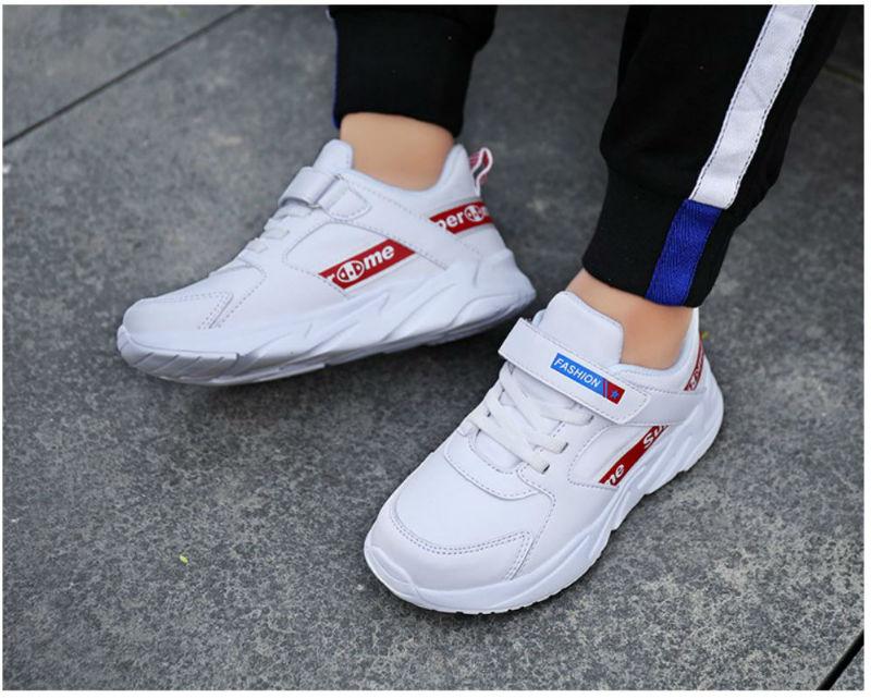 Giày thể thao trắng siêu nhẹ trẻ em - KP2031
