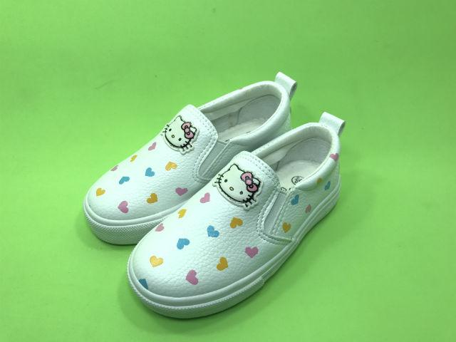 Giày slip on trắng hình mèo kitty dễ thương - KP1004