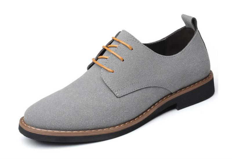 Giày tây xám thời trang nam big size - KP2029