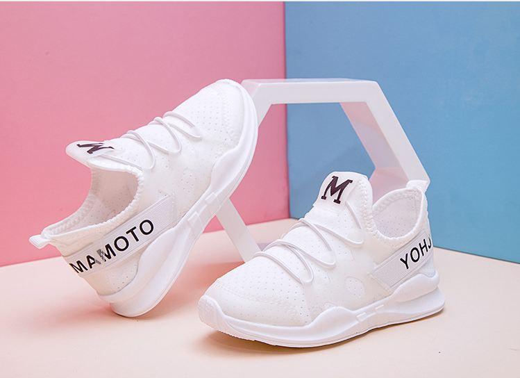Giày sneaker trắng M trẻ em siêu nhẹ - KP1019