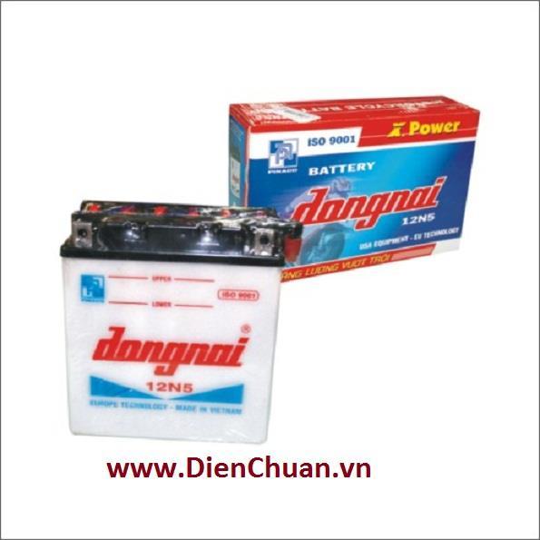 Ắc quy xe máy nước Đồng Nai 12N5 (12V - 5Ah)
