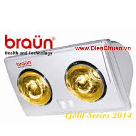 Đèn sưởi Braun 2 bóng vàng
