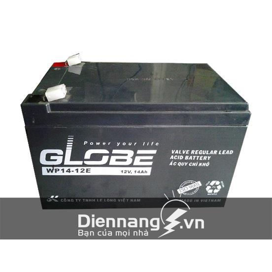 Ắc quy xe đạp điện Globe WP14-12E (12V - 14Ah)