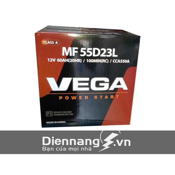 Ắc quy Vega SMF 55D23L (12V - 60Ah)